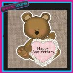 HAPPY ANNIVERSARY JUTE  SHOPPING LADIES GIFT BAG 003